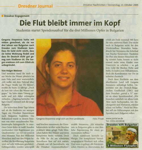 Dresdner Nachrichten vom 13. Oktober 2005