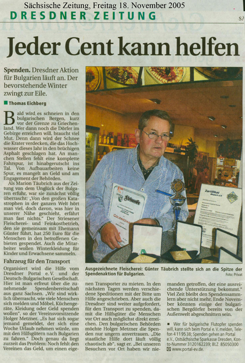 Sächsische Zeitung vom 18. November 2005