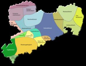 Mundartregionen in Sachsen