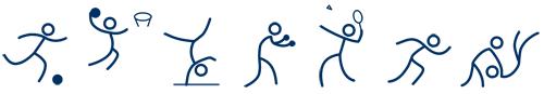 Strichfigur Sportarten