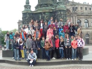 Start am König-Johann-Denkmal