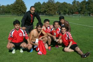 Die Sieger vom Fußballturnier