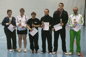 Gewinner vom Badmintonturnier
