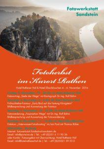 Plakat Fotofestival Sandstein Fotoherbst 2016 im Kurort Rathen